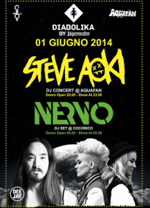 schiuma party aquafan 2014 steve aoki