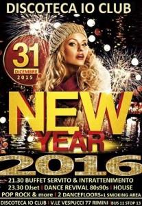 capodanno 2016 Io club rimini