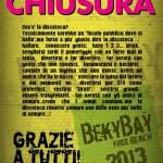 chiusura beky bay 2013