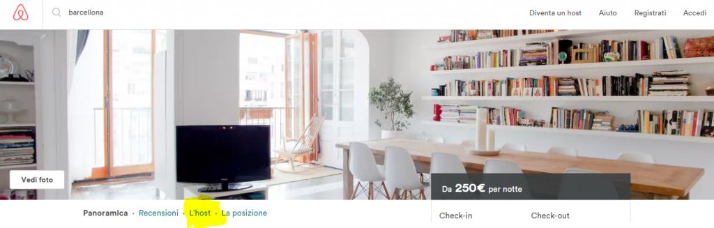 come contattare host Airbnb