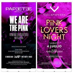 notte rosa 2015 villa papeete